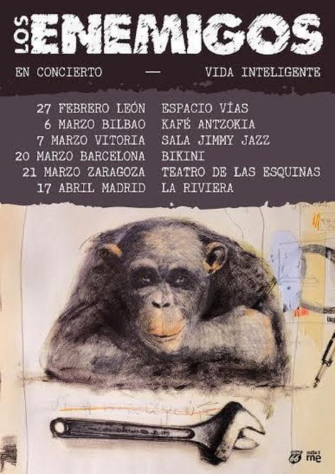 Enemigos. cartel gira 2015